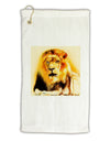 "Lion Watercolor 4 Micro Terry Gromet Golf Towel 11""x19"
