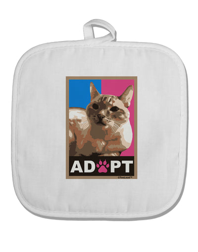 Adopt Cute Kitty Poster White Fabric Pot Holder Hot Pad