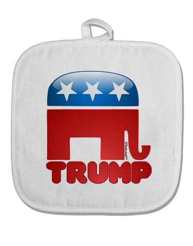 TooLoud Trump Bubble Symbol White Fabric Pot Holder Hot Pad