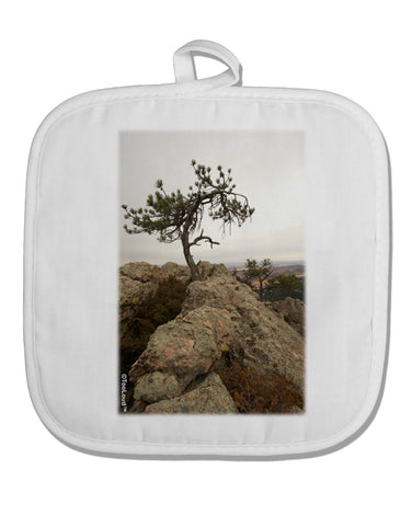 Stone Tree Colorado White Fabric Pot Holder Hot Pad by TooLoud