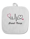 Stethoscope Heartbeat Text White Fabric Pot Holder Hot Pad