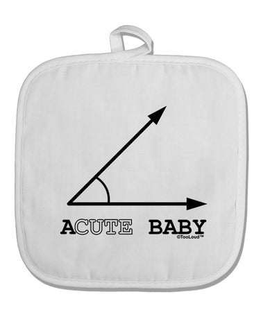 Acute Baby White Fabric Pot Holder Hot Pad