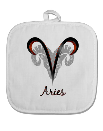 Aries Symbol White Fabric Pot Holder Hot Pad