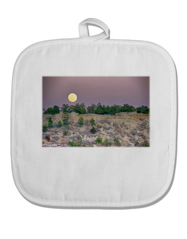 Ute Park Colorado White Fabric Pot Holder Hot Pad by TooLoud