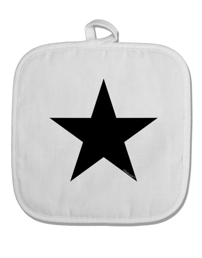 TooLoud Black Star White Fabric Pot Holder Hot Pad