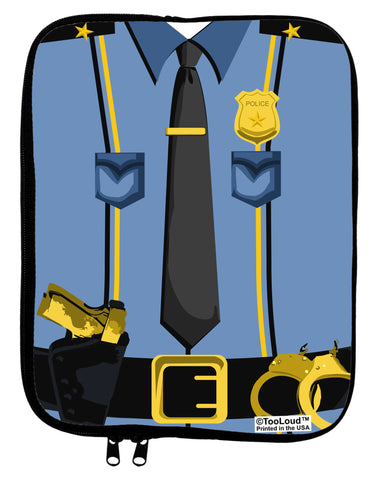 Police Blue-Gold AOP 9 x 11.5 Tablet Sleeve All Over Print