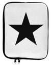 Black Star 9 x 11.5 Tablet  Sleeve - White Black Tooloud