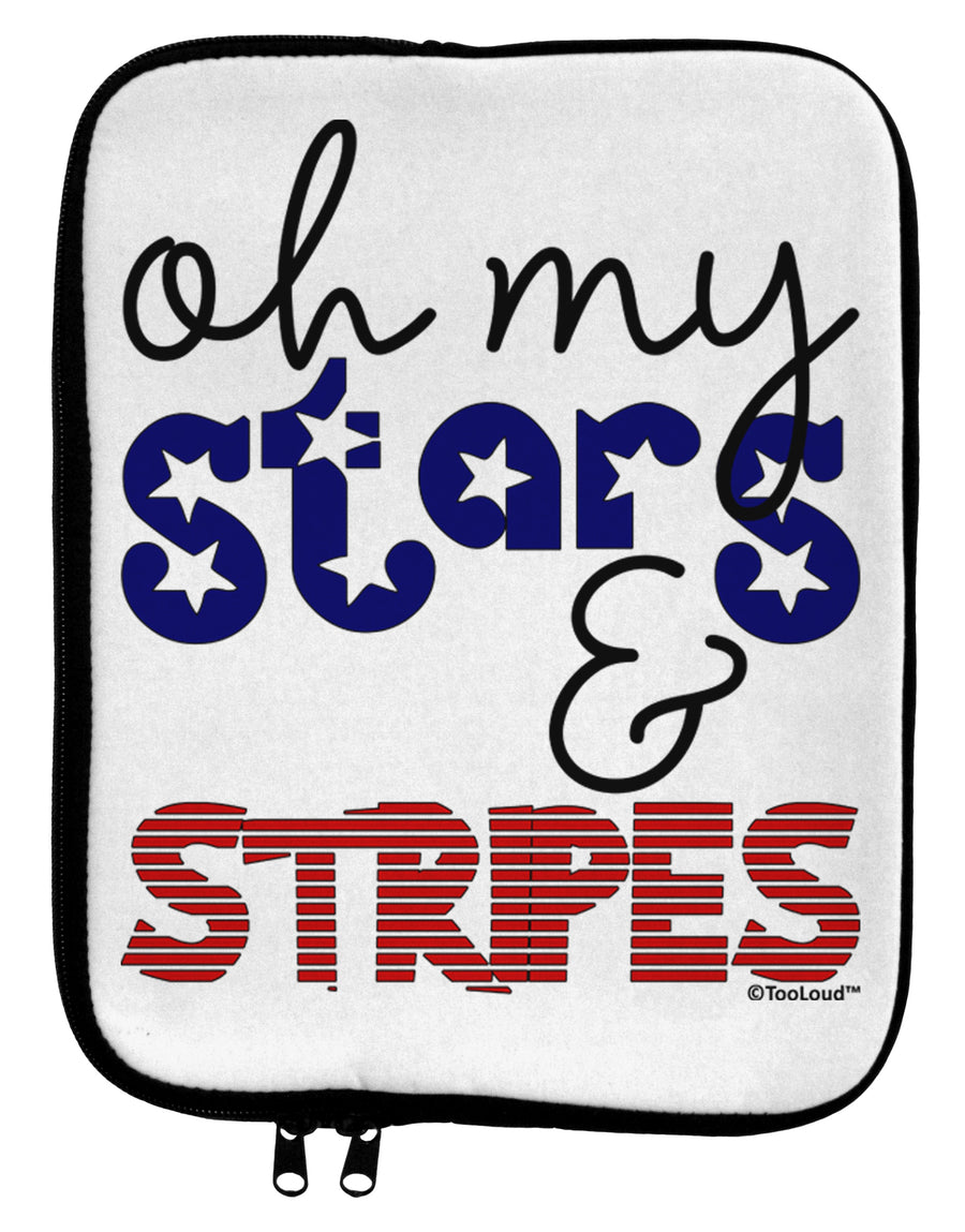 Oh My Stars and Stripes - Patriotic Design 9 x 11.5 Tablet  Sleeve by TooLoud