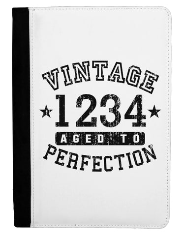 Vintage Birth Year Distressed Personalized Ipad Mini Fold Stand  Case by TooLoud
