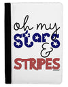 Oh My Stars and Stripes - Patriotic Design Ipad Mini Fold Stand  Case by TooLoud