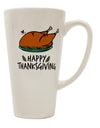 TooLoud Happy Thanksgiving 16 Ounce Conical Latte Coffee Mug