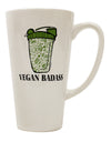 TooLoud Vegan Badass Blender Bottle 16 Ounce Conical Latte Coffee Mug