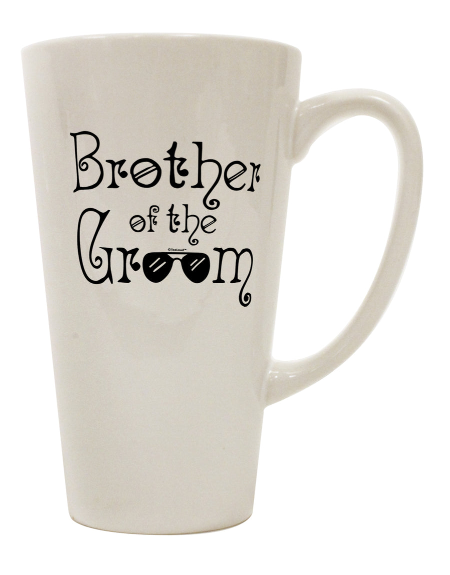 TooLoud Brother of the Groom 16 Ounce Conical Latte Coffee Mug
