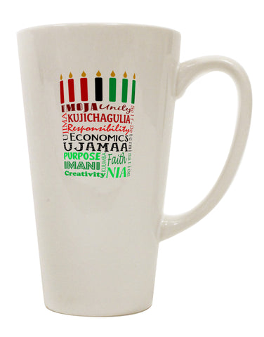 7 Principles Box 16 Ounce Conical Latte Coffee Mug