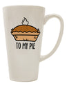 TooLoud To My Pie 16 Ounce Conical Latte Coffee Mug