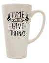 TooLoud Time to Give Thanks 16 Ounce Conical Latte Coffee Mug