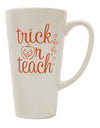 TooLoud Trick or Teach 16 Ounce Conical Latte Coffee Mug