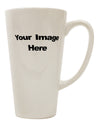 Custom Personalized Image and Text 16 Ounce Conical Latte Coffee Mug