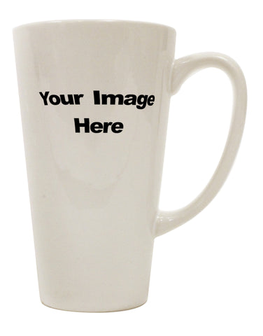 Your Own Image Customized Picture 16 Ounce Conical Latte Coffee Mug