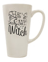 TooLoud She's My Witch 16 Ounce Conical Latte Coffee Mug