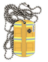 Firefighter Yellow AOP Adult Dog Tag Chain Necklace