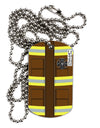 Firefighter Brown AOP Adult Dog Tag Chain Necklace