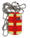 Firefighter Red AOP Adult Dog Tag Chain Necklace