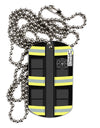 Firefighter Black AOP Adult Dog Tag Chain Necklace