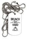 Brunch So Hard Eggs and Coffee Adult Dog Tag Chain Necklace - 1 Piece
