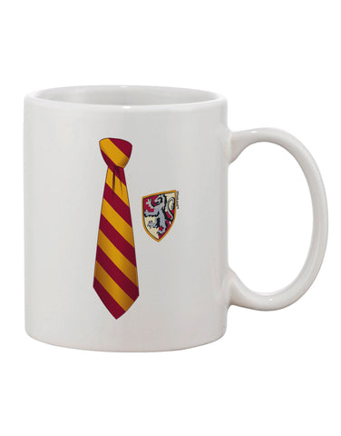 TooLoud Wizard Tie Red and Yellow Printed 11oz Coffee Mug