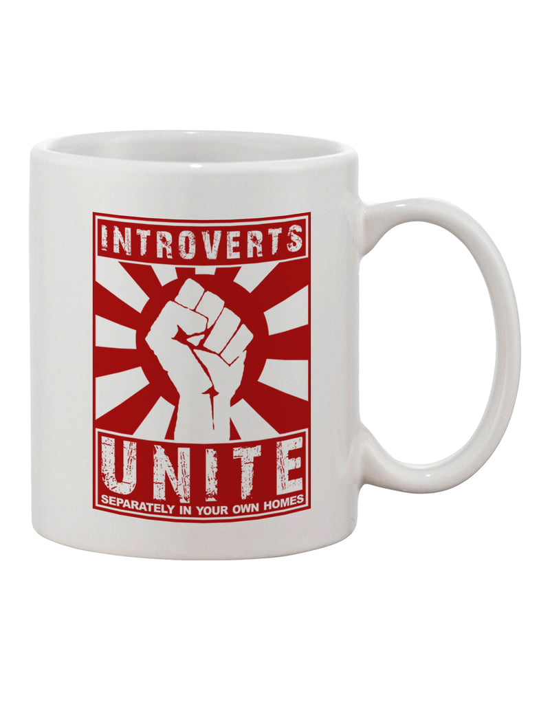 Introverts Unite Funny Printed 11oz Coffee Mug by TooLoud ...
