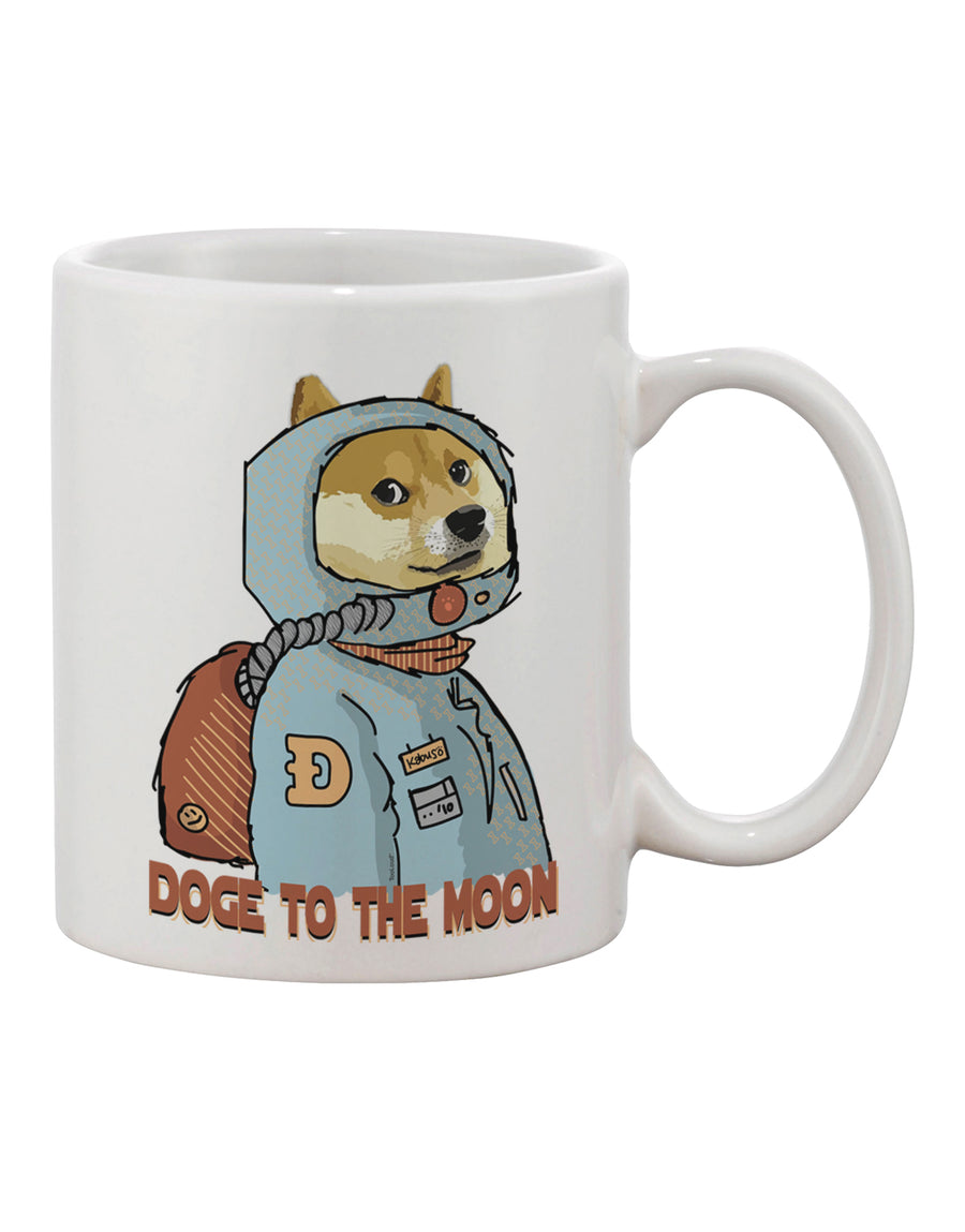 TooLoud Doge to the Moon Printed 11oz Coffee Mug