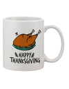 TooLoud Happy Thanksgiving Printed 11oz Coffee Mug
