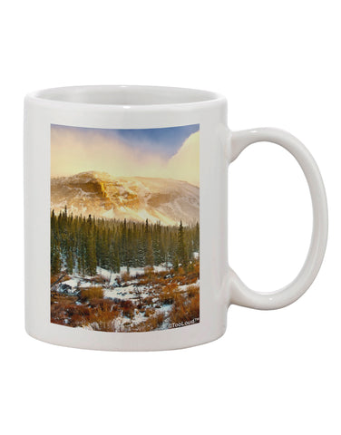 Nature Photography - Mountain Glow Printed 11oz Coffee Mug by TooLoud