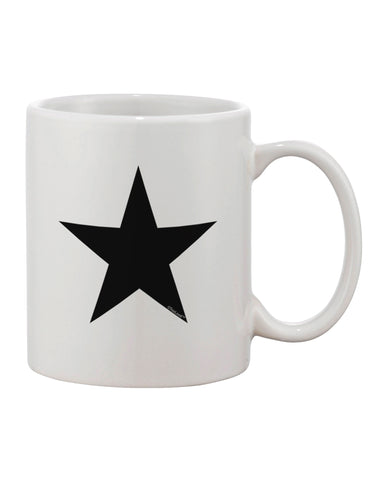 TooLoud Black Star Printed 11oz Coffee Mug