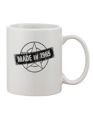 50th Birthday Made In Birth Year 1965 Printed 11oz Coffee Mug