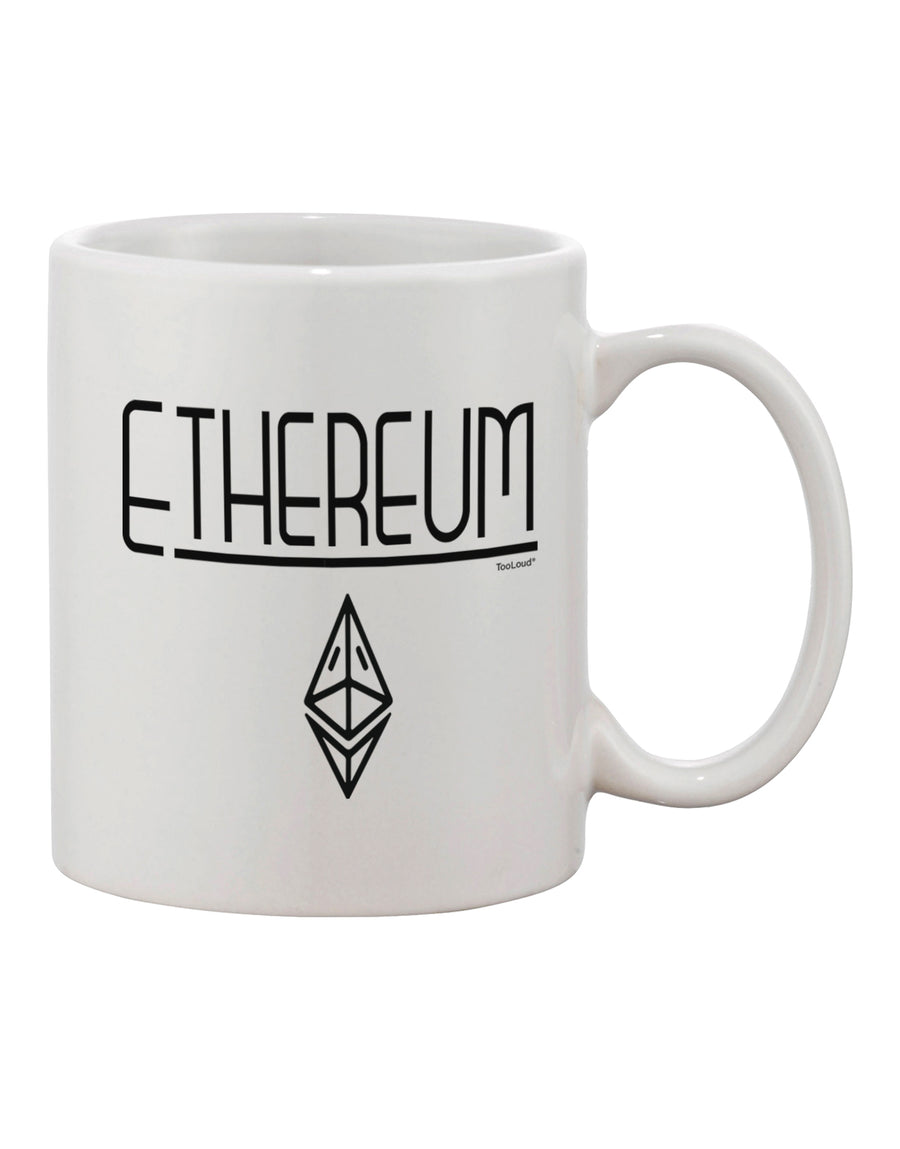 TooLoud Ethereum with logo Printed 11oz Coffee Mug