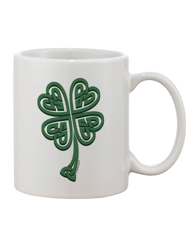 3D Style Celtic Knot 4 Leaf Clover Printed 11oz Coffee Mug