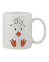 TooLoud Cute Easter Chick Face Printed 11oz Coffee Mug