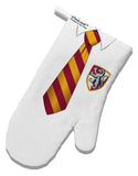 TooLoud Wizard Uniform Red and Yellow White Printed Fabric Oven Mitt All Over Print