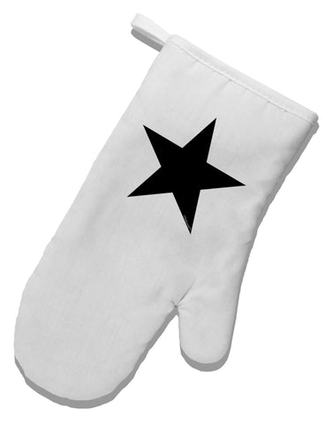 TooLoud Black Star White Printed Fabric Oven Mitt