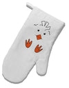 TooLoud Cute Easter Chick Face White Printed Fabric Oven Mitt