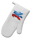 TooLoud Unicorn Political Symbol White Printed Fabric Oven Mitt