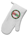 7 Principles Circle White Printed Fabric Oven Mitt