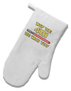4th Be With You Beam Sword White Printed Fabric Oven Mitt by TooLoud