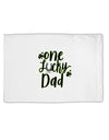 TooLoud One Lucky Dad Shamrock Standard Size Polyester Pillow Case