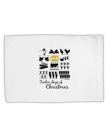 12 Days of Christmas Text Color Standard Size Polyester Pillow Case