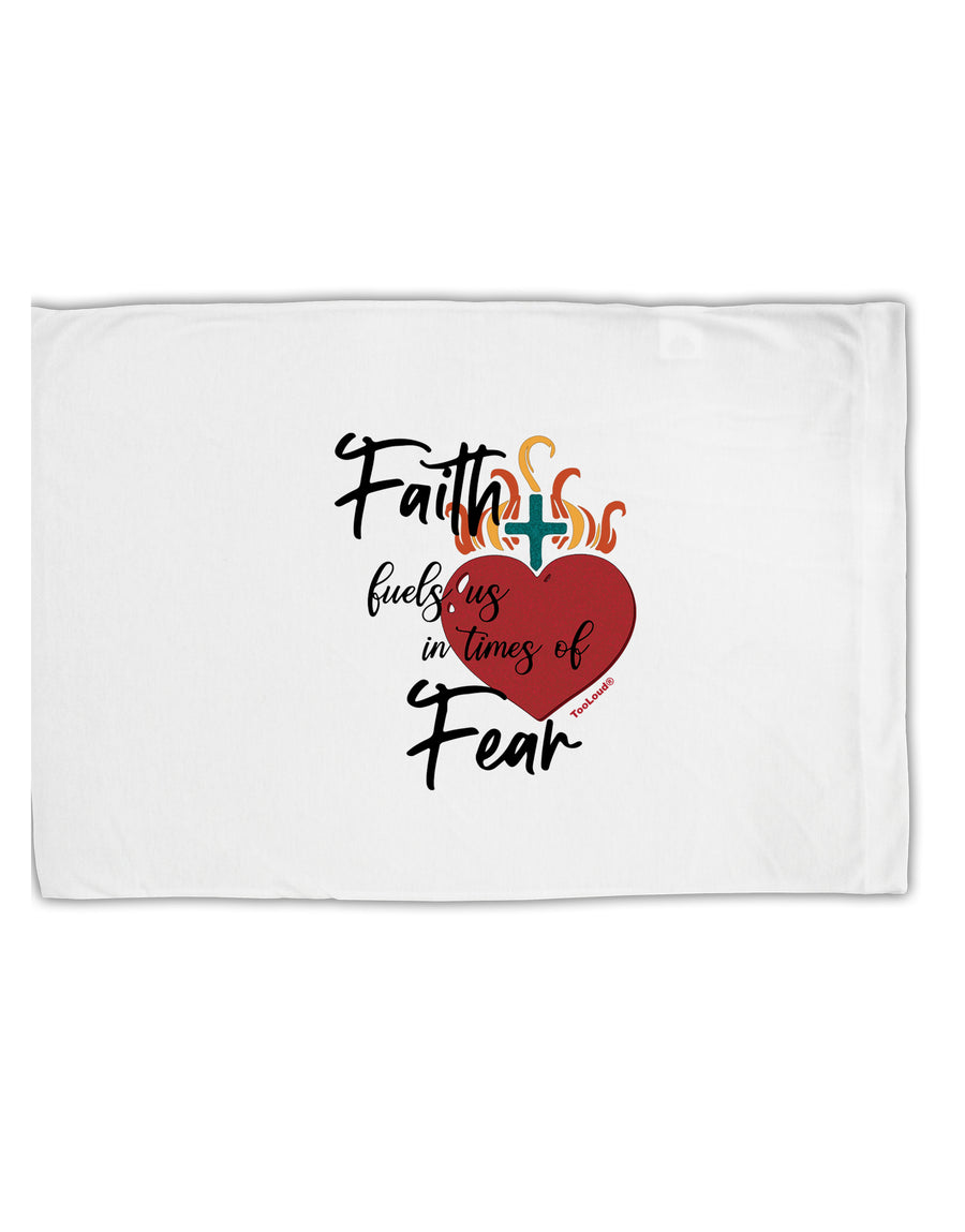 TooLoud Faith Fuels us in Times of Fear  Standard Size Polyester Pillo