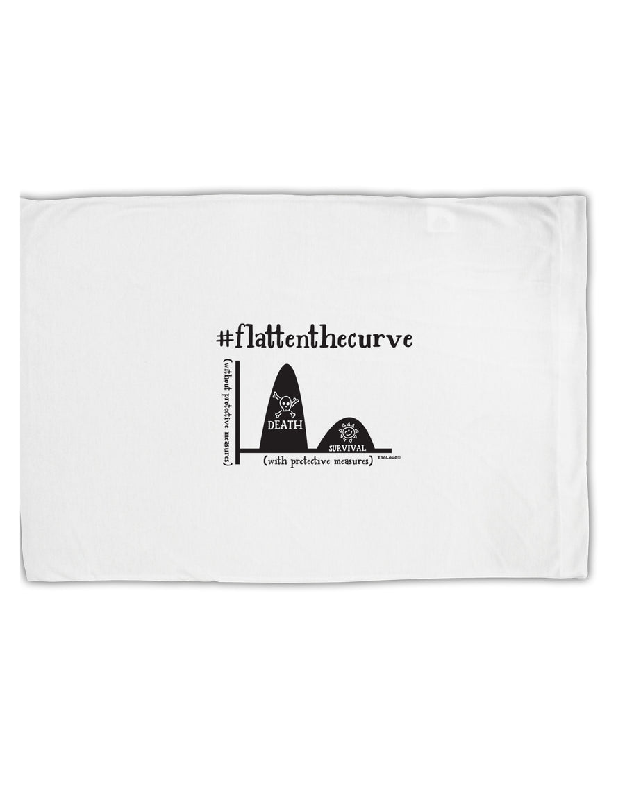 TooLoud Flatten the Curve Graph Standard Size Polyester Pillow Case