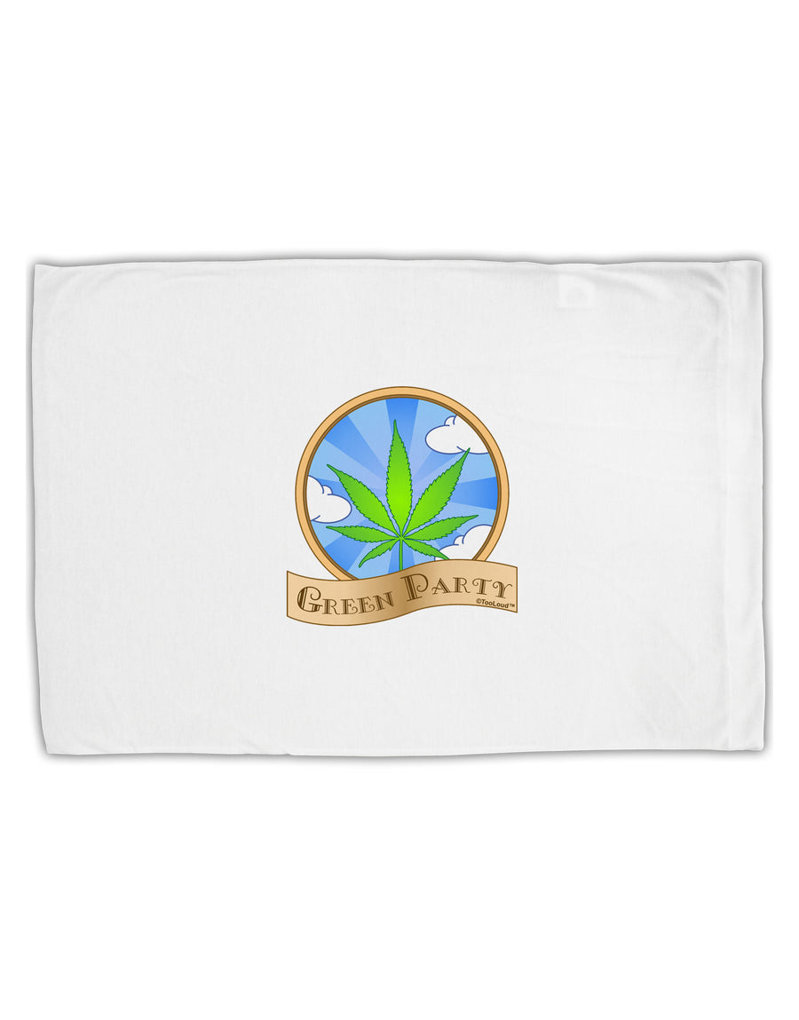 Green Party Symbol Standard Size Polyester Pillow Case